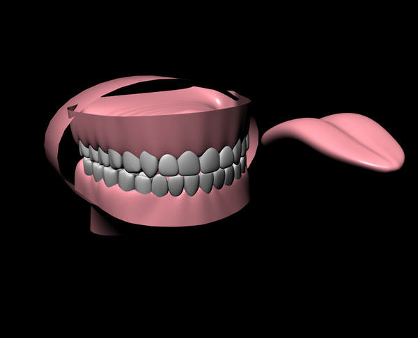teeth originally created 3d c4d - teeth... by koktelbar