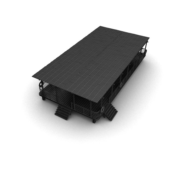 outdoor roof construction 3ds - Outdoor Roofed Construction... by Litarvan