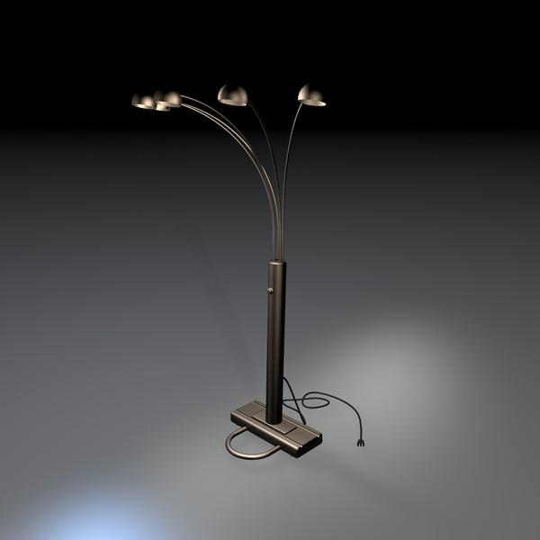 3d model 5 light bulb lamp