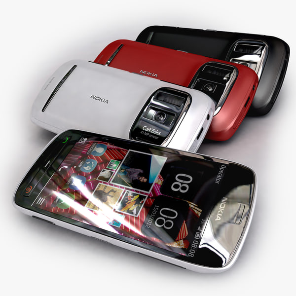 obj new nokia 808 pureview - new Nokia 808 Pureview black red white collection... by Leeift