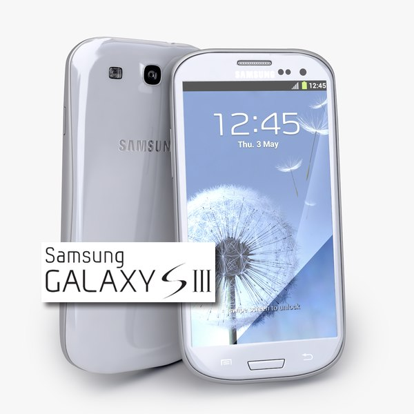 new samsung galaxy s3 3d model