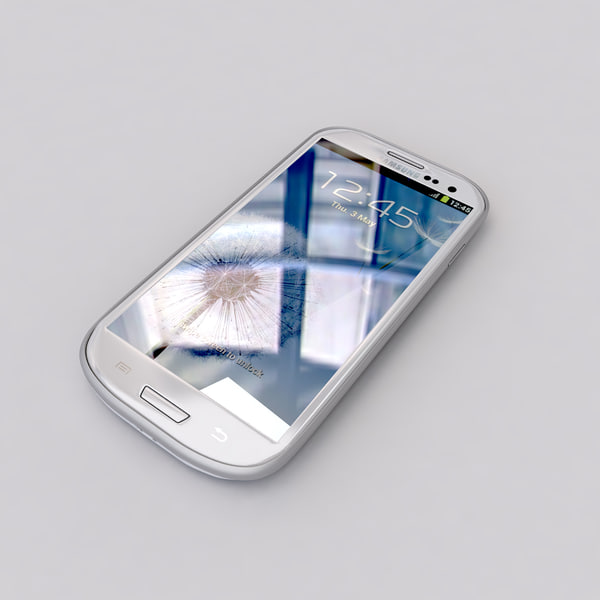 3d new samsung galaxy s3 - new Samsung Galaxy S3 Smartphone White and Blue collection... by Leeift
