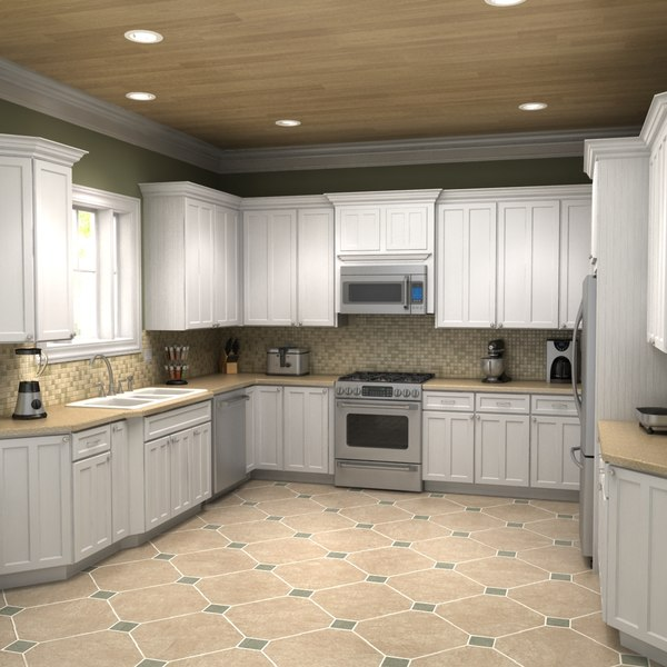 3d max kitchen scene