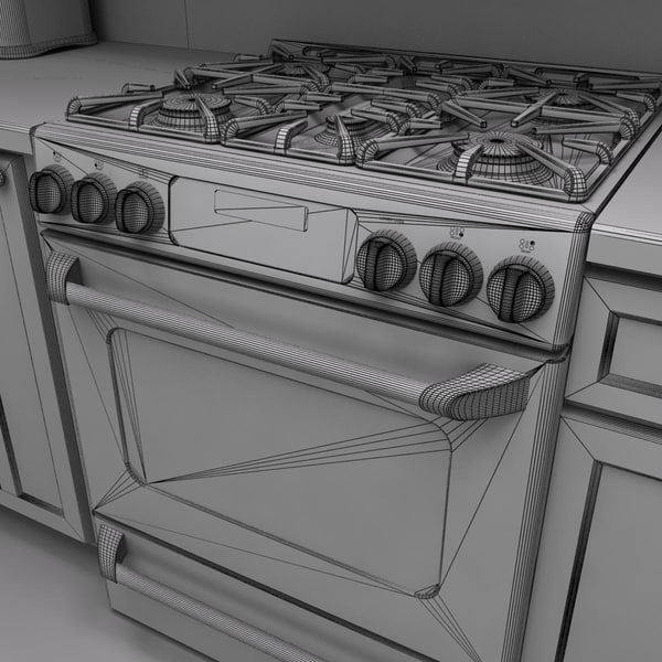 3d max kitchen scene - Full Kitchen Scene 2... by monkeyodoom