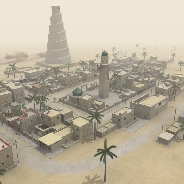 middle eastern town houses 3d max