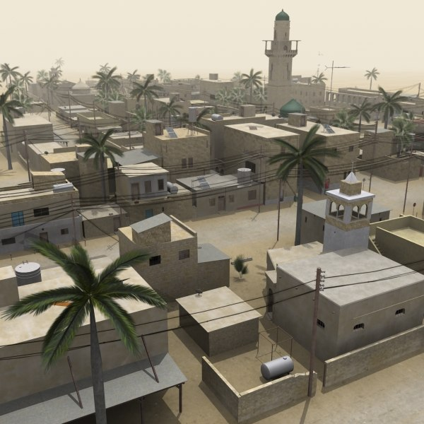 middle eastern town houses 3d model - Middle Eastern Town... by Braden Lehman