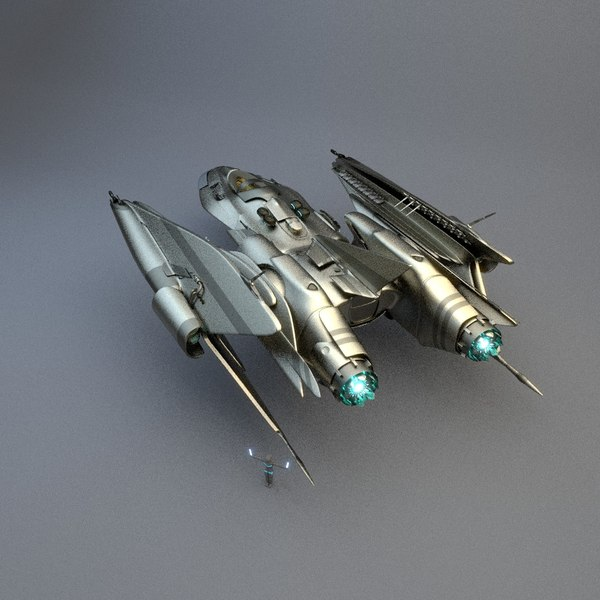 space spaceship 3d model - Spaceship FSX82001R... by sender pinarci