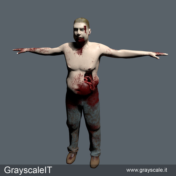free zombie games 3d model