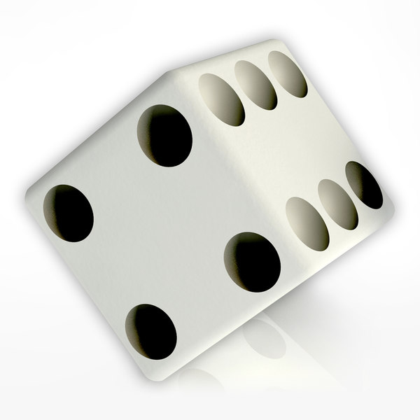 3d model playing dice 1