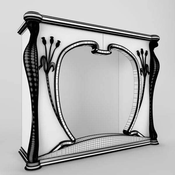 3d art nouveau fireplace - Art Nouveau fireplace... by Magic_OSS