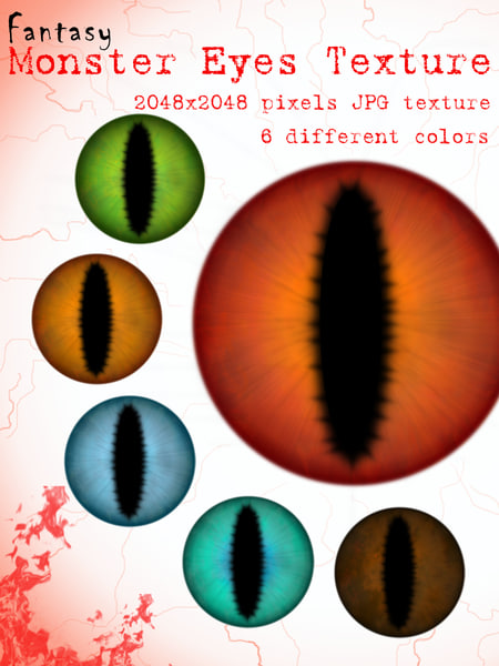 Monster Eyes Texture Map