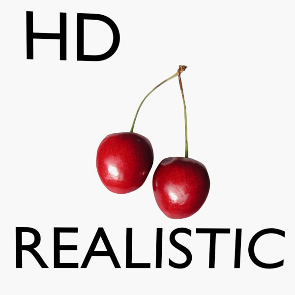 3d realistic cherry