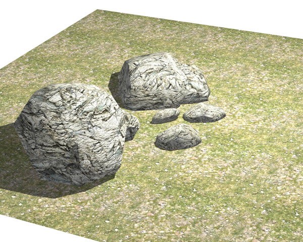 3d model stone rock chalk - stone rock chalk low poly gameboulder river stream pebble ... by mecazen