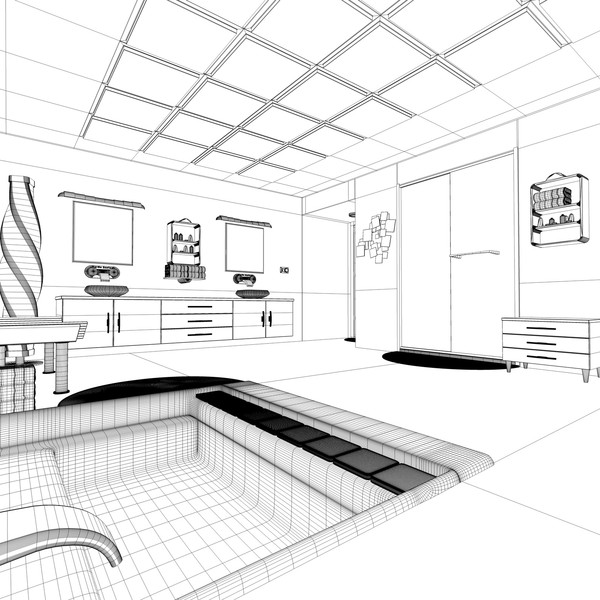 modern elegant bathroom interior c4d - Elegant Bathroom... by 3DEnvironmentModels