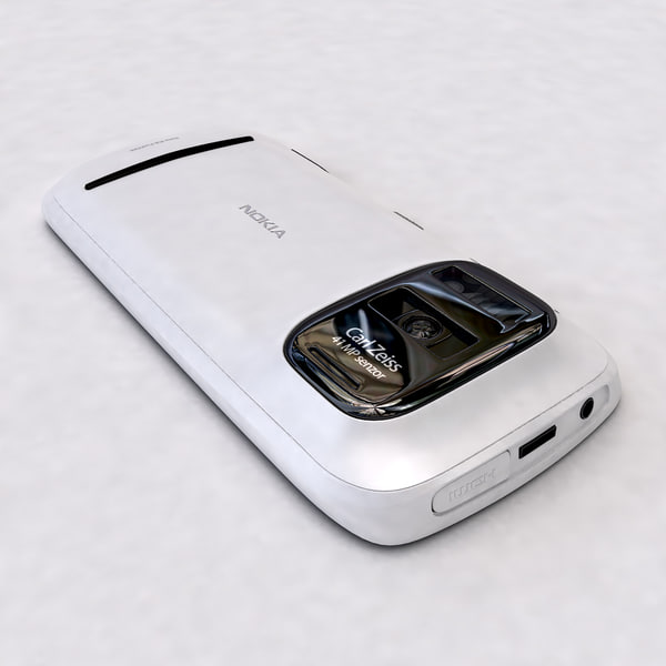 3d model nokia 808 pureview white - Nokia 808 PureView white... by Leeift