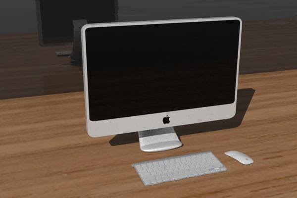 3d model of imac 27 wireless keyboard