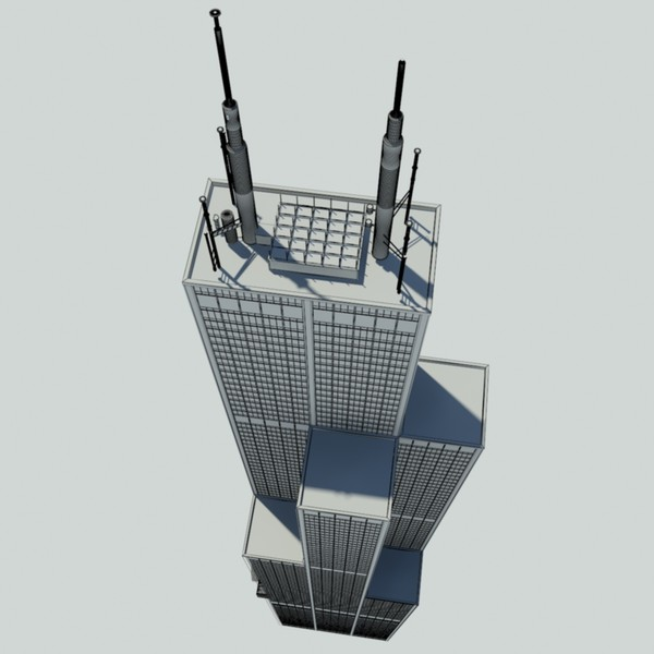 3d model willis tower sears - - Willis Tower - Sears Tower... by Mister A