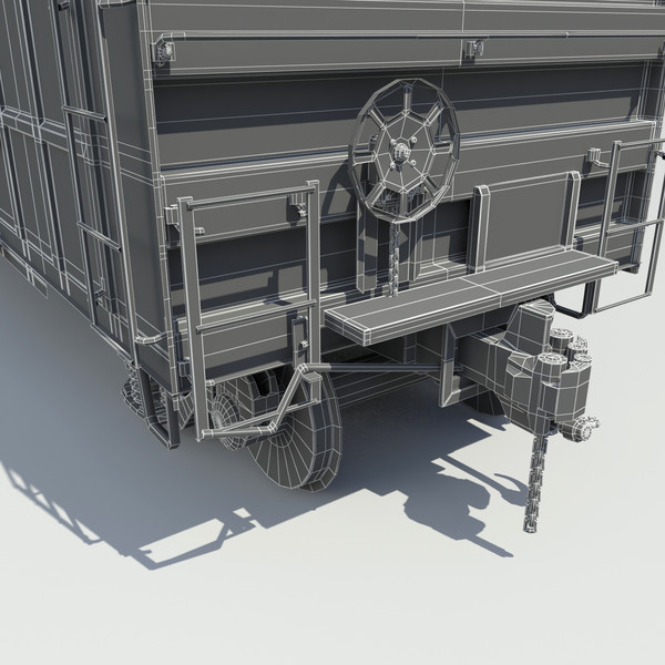 cargo cars 3d max - Train 4 Freight Cars... by Trueview3D