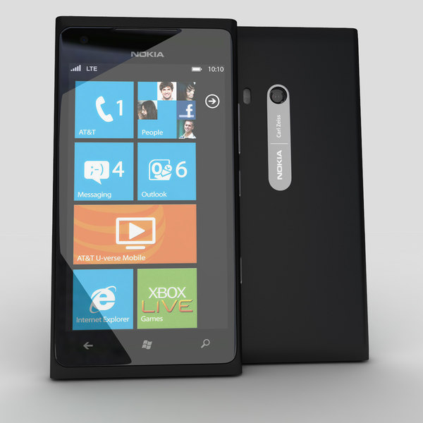 new nokia lumia 900 3d model - new Nokia Lumia 900 Black... by Leeift
