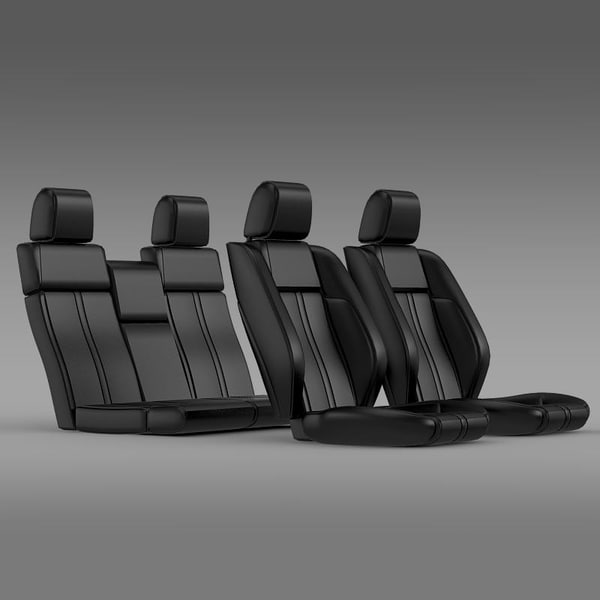 mustang carseats parts 3d model