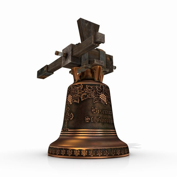 medieval church bell 3d obj