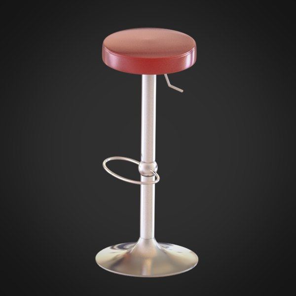 chair stool 3d obj