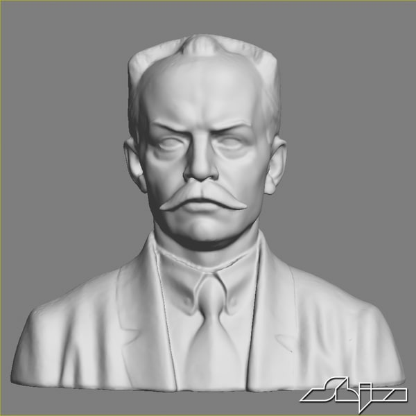 3d man bust sculpture model - Sculpture 14 Man Bust... by shiva3d