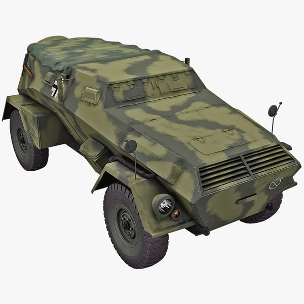 kfz 247 armored car 3d model