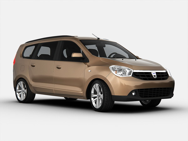 3d dacia car model - Dacia Lodgy (2013)... by Swan3DStudios