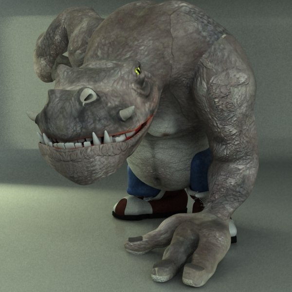3d model monster - creature... by happyyyy