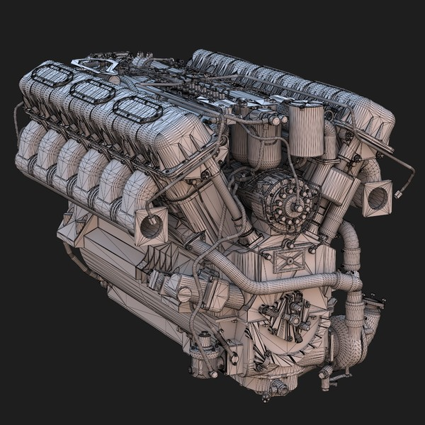 3ds v12 diesel engine - Diesel Engine... by dimosbarbos