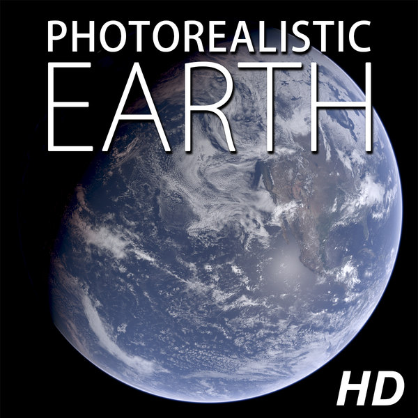 planet earth photorealistic 3d max