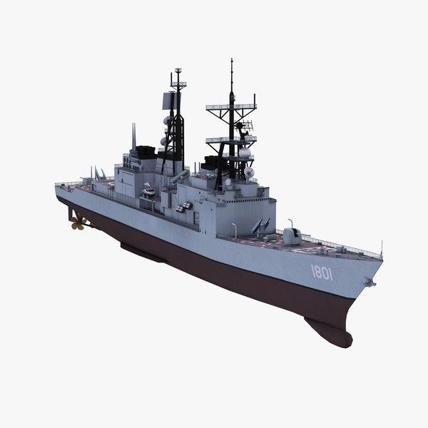 kee lung class ddg 3d model