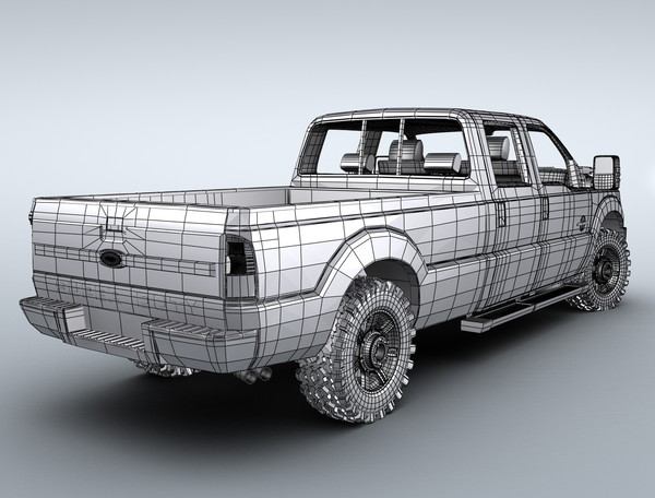 f250 super duty 3d 3ds - Ford F250 Super Duty (2013)... by Swan3DStudios