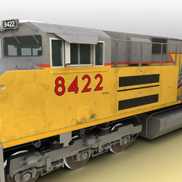 3d emd sd70ace locomotive engines - Locomotive EMD SD70ACe UP... by 3d_artisan