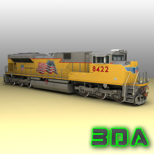 3d emd sd70ace locomotive engines