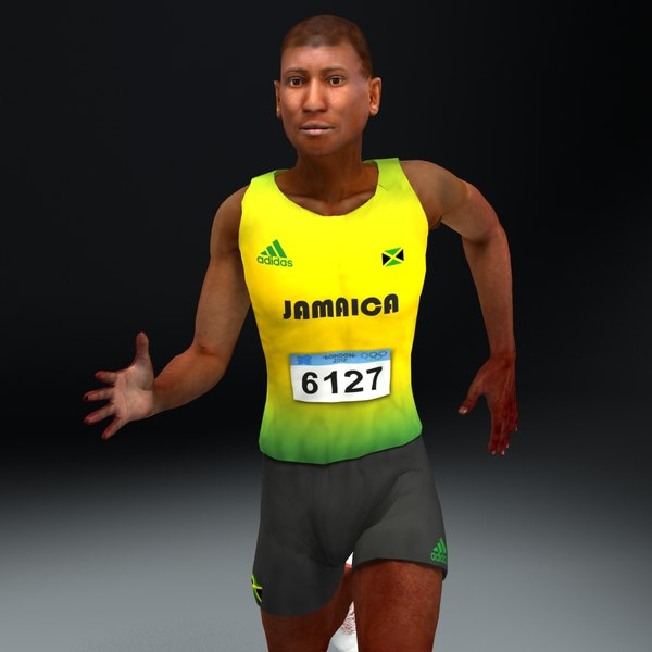 olympic athlete jamaican 3d model - Olympic Athlete Jamaican... by ES3DStudios