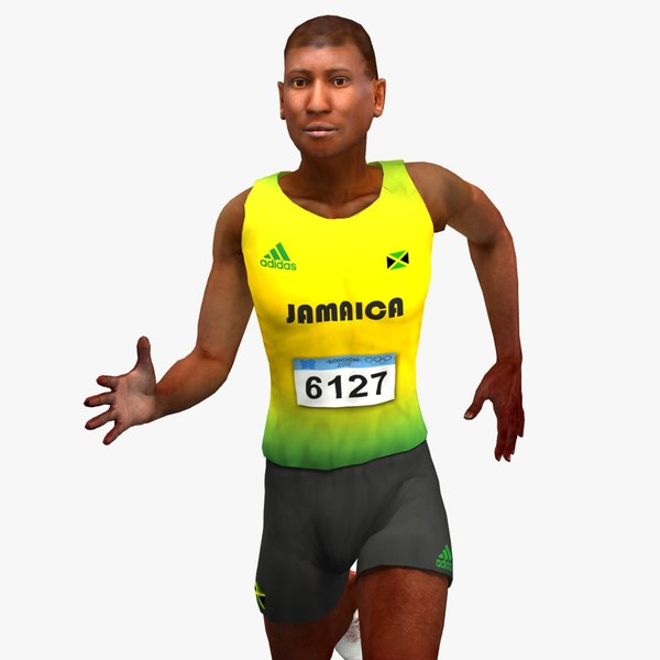 olympic athlete jamaican 3d model