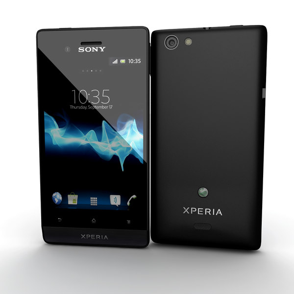 sony xperia miro smartphone 3d 3ds