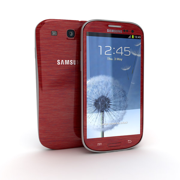 Samsung Galaxy S3 Smartphone Red