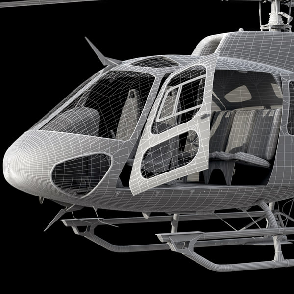maya eurocopter 350 - Eurocopter AS 350 Black... by Galva858