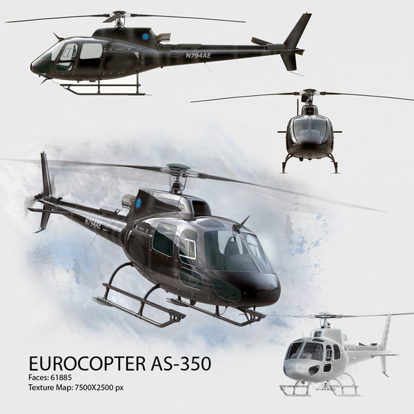 3ds eurocopter 350 - Eurocopter AS 350 Ecureuil... by Galva858