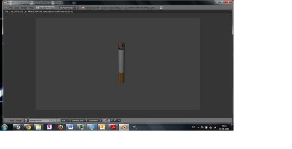cigarrete 3d blend