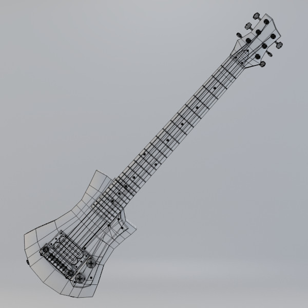 hofner shorty guitar 3d model - Hofner Shorty Guitar... by Steno Scarduelli ex Sirren