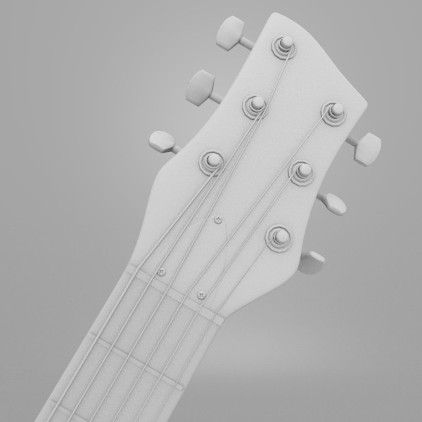 hofner shorty guitar 3d model - Hofner Shorty Guitar... by Sirren