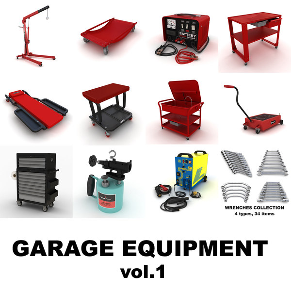 garage equipment vol 1 3d model - Garage equipment vol.1... by ralpatov
