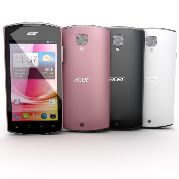 Acer Liquid Glow Black, White and Pink Collection