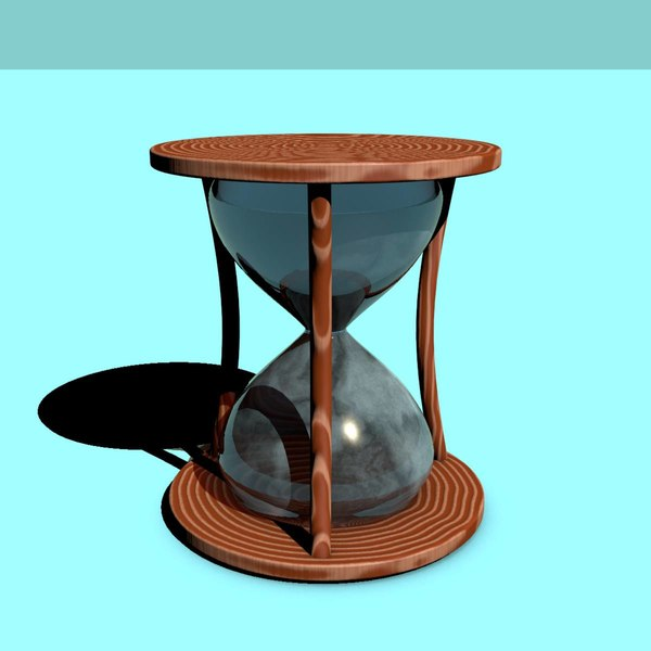 3d c4d old hourglass
