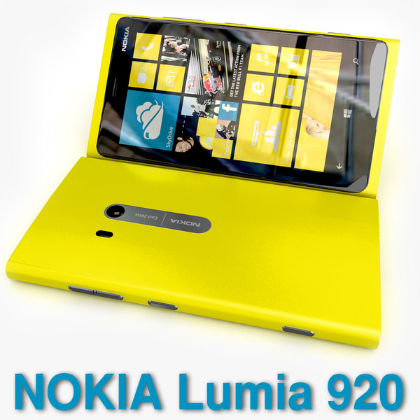 new flagship phone Nokia Lumia 920 Yellow