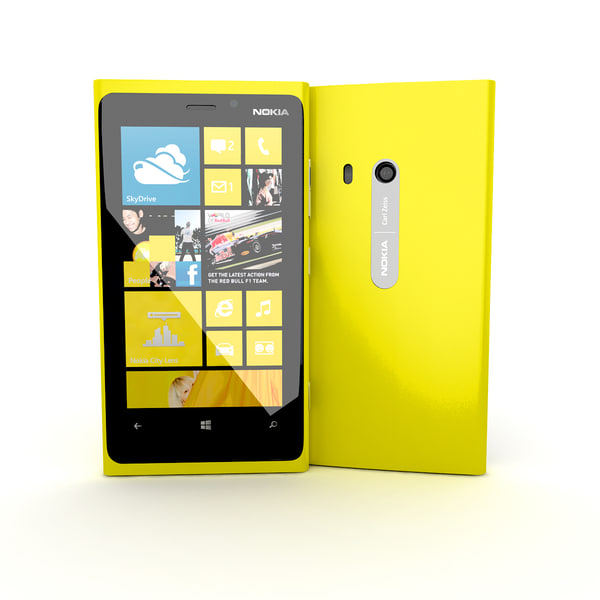 3d new flagship nokia lumia model - new flagship phone Nokia Lumia 920 Yellow... by Leeift